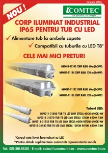 Corp Iluminat IP65 pt tub LED