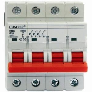 Intrerupator automat tetrapolar HBC 10kA MCB