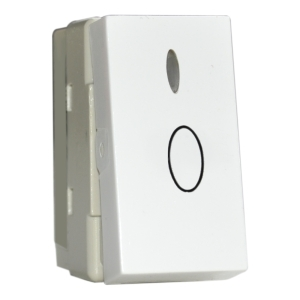 Intrerupator cu revenire cu led premium alb aparataj de camera Comtec