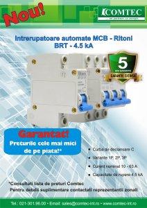 Intrerupatoare automate Ritoni 4.5 kA