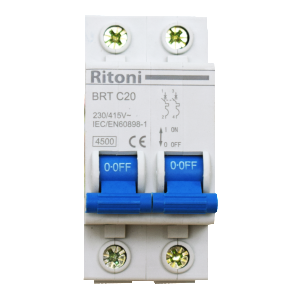 Intrerupator automat bipolar  RITONI BRT 4.5kA MCB