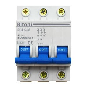 Intrerupator automat tetrapolar  RITONI BRT 4.5kA MCB